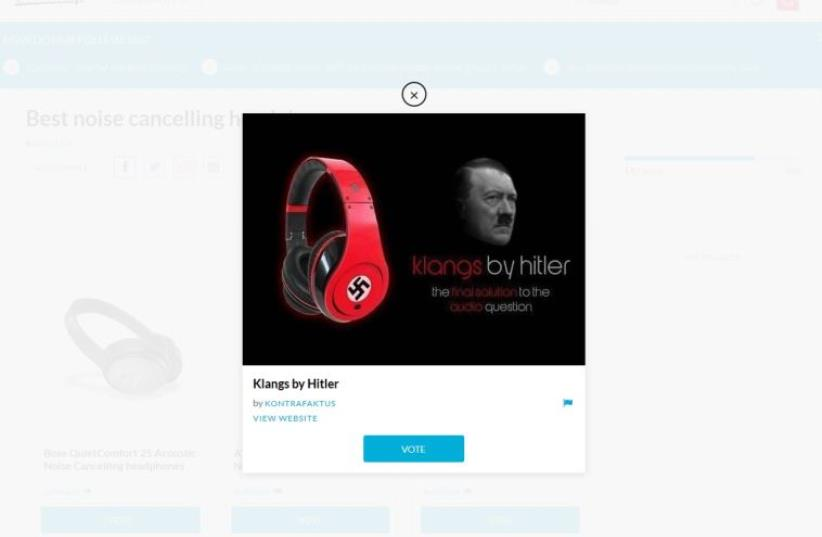 """Klangs"" by Hitler on Massdrop.com (photo credit: screenshot)"