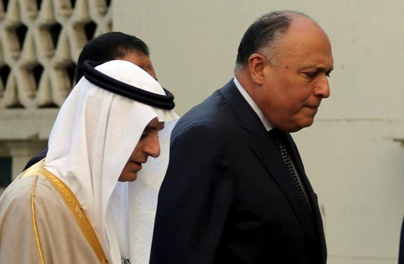 Saudi Foreign Minister Adel al-Jubeir and Egypt's Foreign Minister Sameh Shoukry  (photo credit: REUTERS)