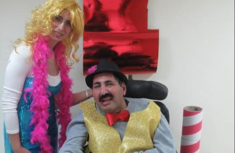 Purim Party at Colel Chabad Grabski Center for people with degenerative diseases (photo credit: Courtesy)