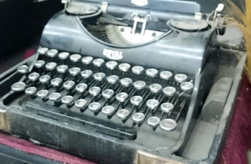 Typewriter from 1933 (photo credit: YAEL BRYGEL)