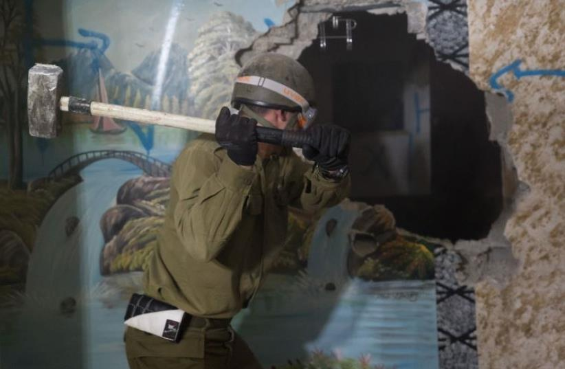 IDF destroys house of terrorist responsible for killing Israeli in Hebron attack (photo credit: IDF SPOKESMAN'S UNIT)