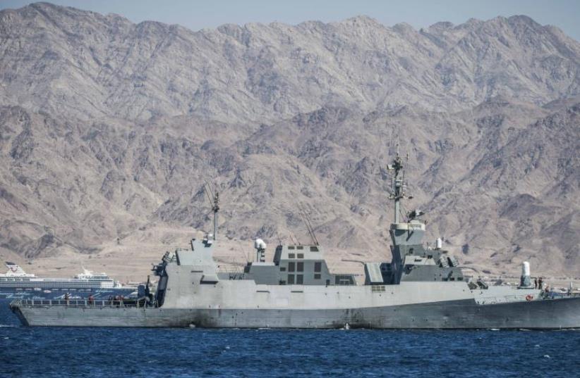 Israel navy drill in the Red Sea (photo credit: IDF SPOKESMAN'S UNIT)