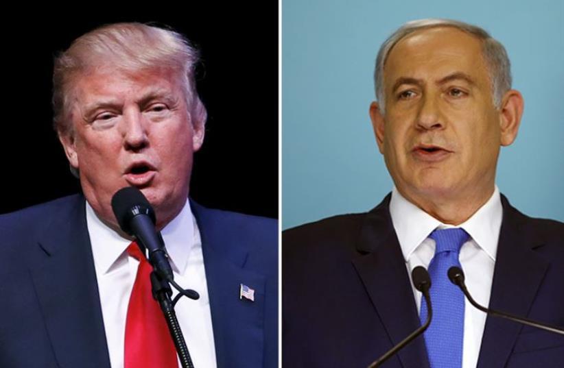 Netanyahu and Trump (photo credit: REUTERS)