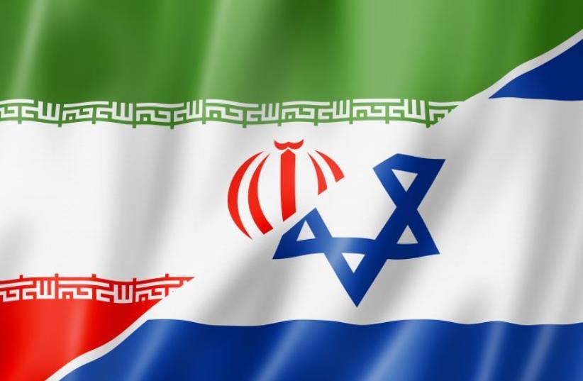 Israel and Iran flags (photo credit: ING IMAGE/ASAP)