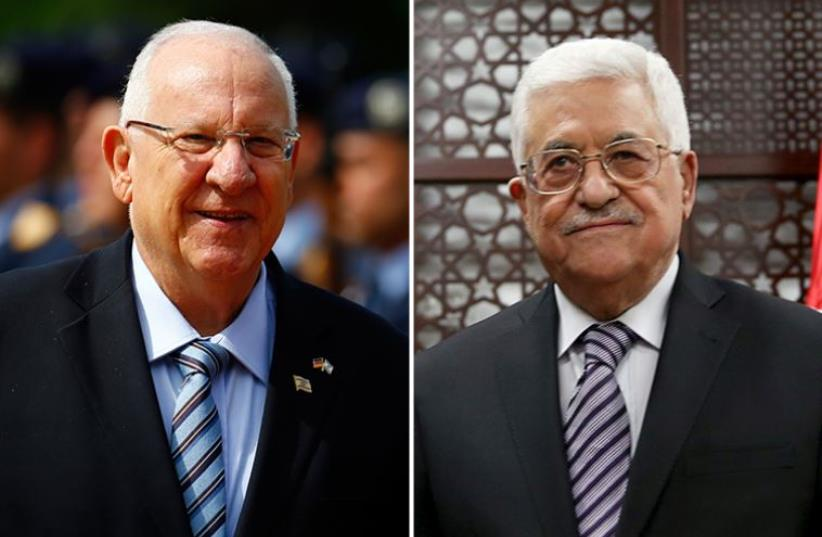 Rivlin and Abbas (photo credit: REUTERS)