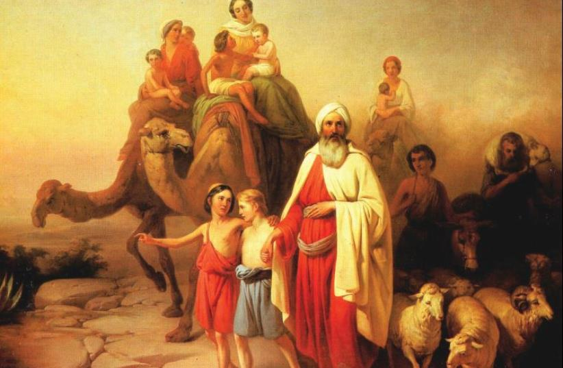 'Abraham's departure from Ur Kasdim,' an 1850 painting by Jozsef Molnar (photo credit: Wikimedia Commons)