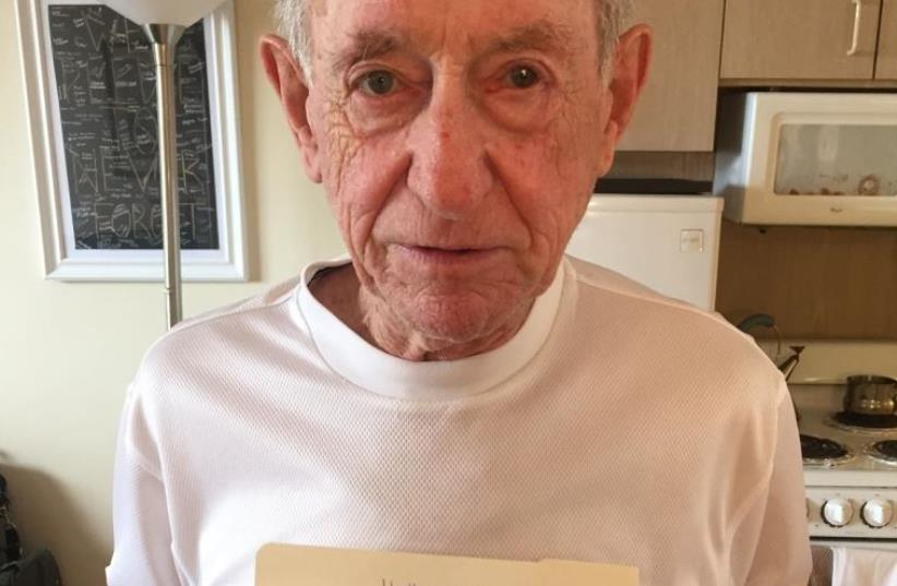 Henry Flescher, a Holocaust survivor, provides photo proof on Reddit. (photo credit: Courtesy)