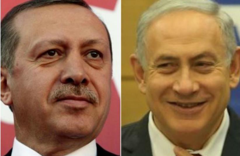 Erdogan and Netanyahu (photo credit: REUTERS)