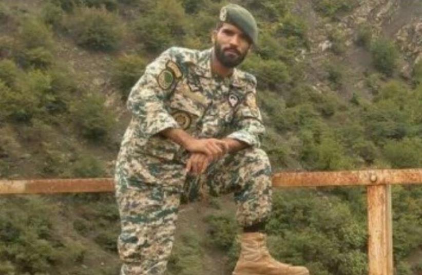 The Iranian army soldier killed, Mohsen Qitaslo (photo credit: ARAB MEDIA)