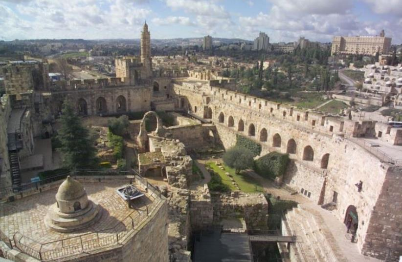 A view of the Tower of David Museum (photo credit: RICKY RACHMAN)