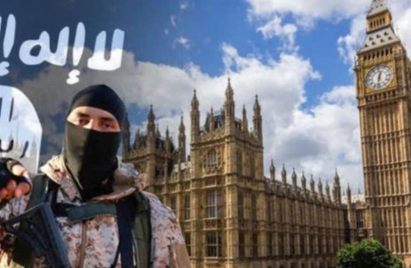 Screenshot of ISIS video threatening attacks in London (photo credit: screenshot)