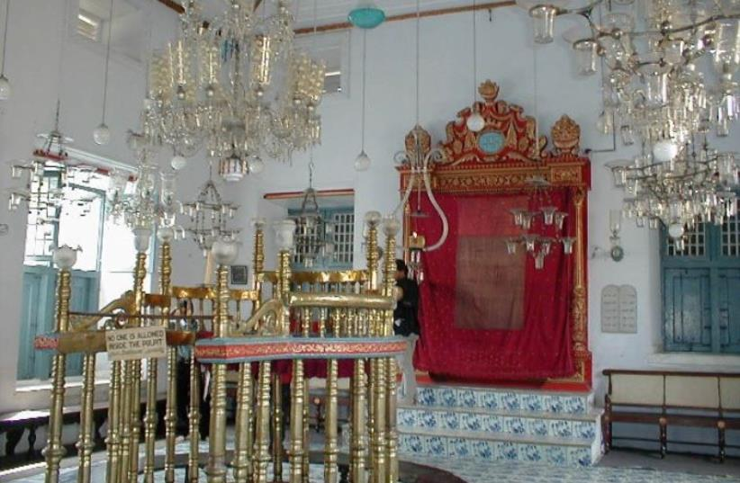 The Paradesi Synagogue in Kochi, India (photo credit: Wikimedia Commons)