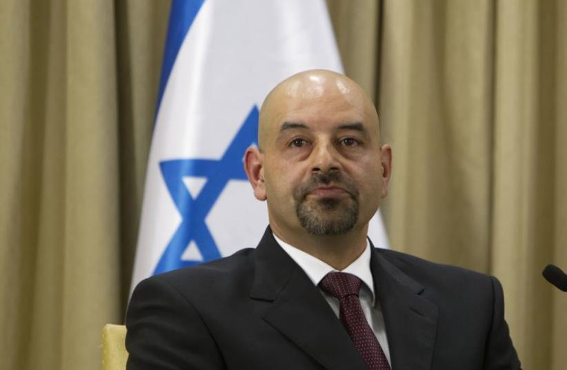 Jordan's new ambassador to Israel Walid Khalid Abdullah Obeidat after presenting his credentials in Jerusalem, 2012 (photo credit: REUTERS)