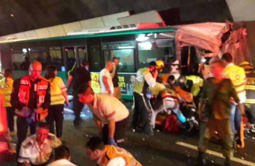 Bus crash in Haifa (photo credit: UNITED HATZALAH)