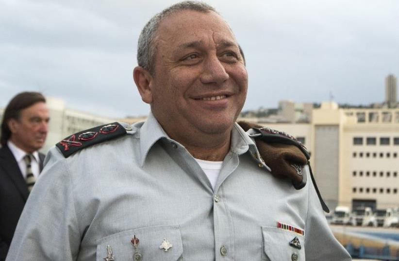 IDF chief of staff Lt.-Gen. Gadi Eisenkot (photo credit: AFP PHOTO)