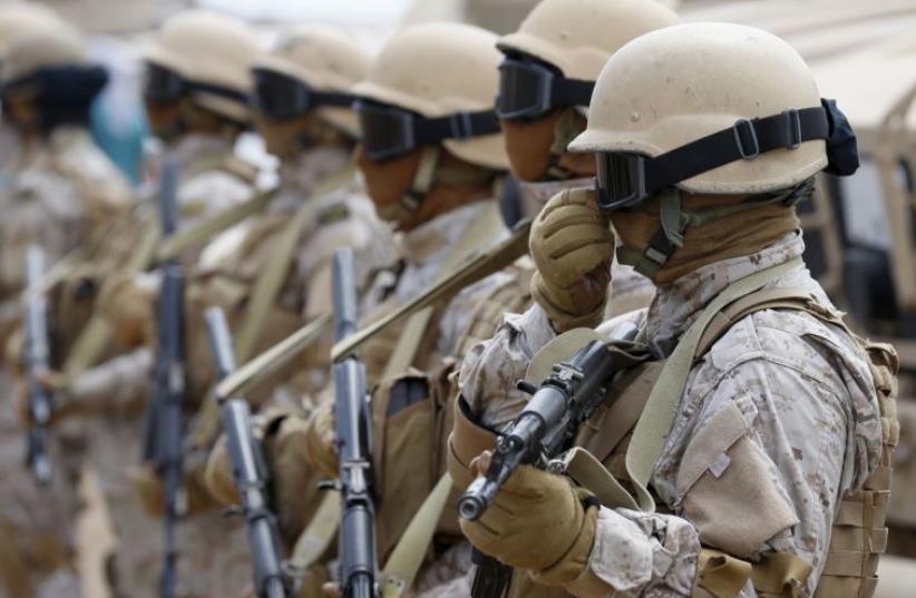 Saudi troops (photo credit: REUTERS)