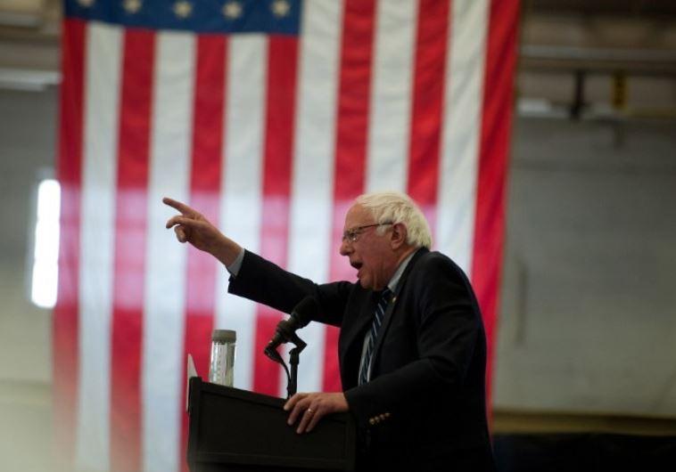 Democratic presidential candidate Bernie Sanders speaks to supporters in Pittsburgh / AFP PHOTO