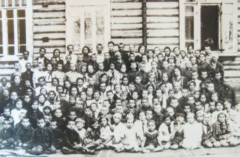 Bialystok children in the Udmurtia Republic in the Urals, 1941 (photo credit: B'NAI B'RITH WORLD CENTER)