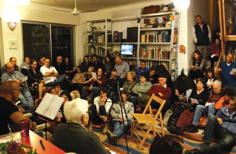'Zikaron Basalon' participants meet a survivor, last year in Jerusalem (photo credit: Courtesy)