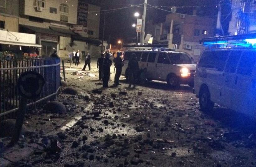 Clashes at Kfar Manda (photo credit: ISRAEL POLICE)