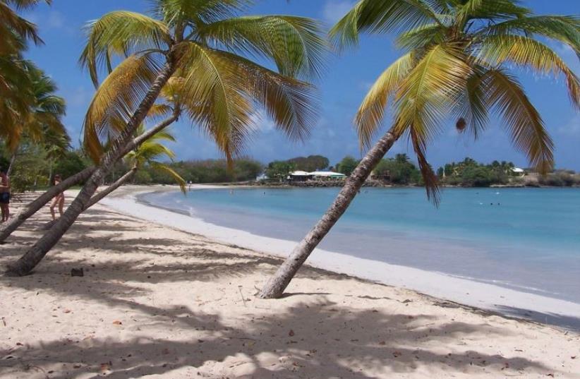 A Caribbean island [Illustrative] (photo credit: Wikimedia Commons)