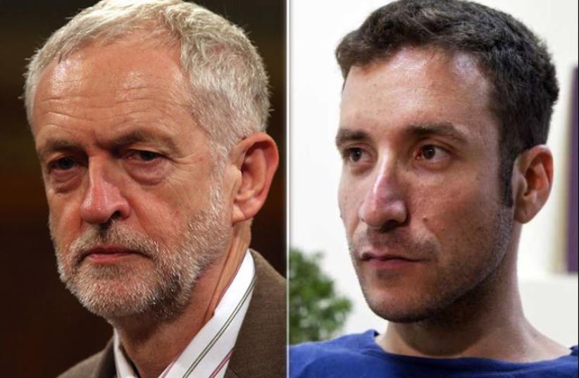 Corbyn and Shmuli (photo credit: REUTERS)