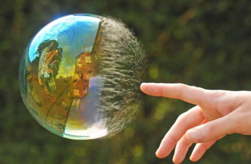 Bursting the bubble (photo credit: EBAUM'S WORLD)