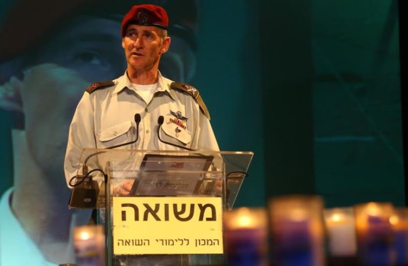 IDF Deputy Chief of Staff Maj.-Gen. Yair Golan delivers remarks at Kibbutz Tel Yitzhak (photo credit: ASSAF SHILO / ISRAEL SUN)