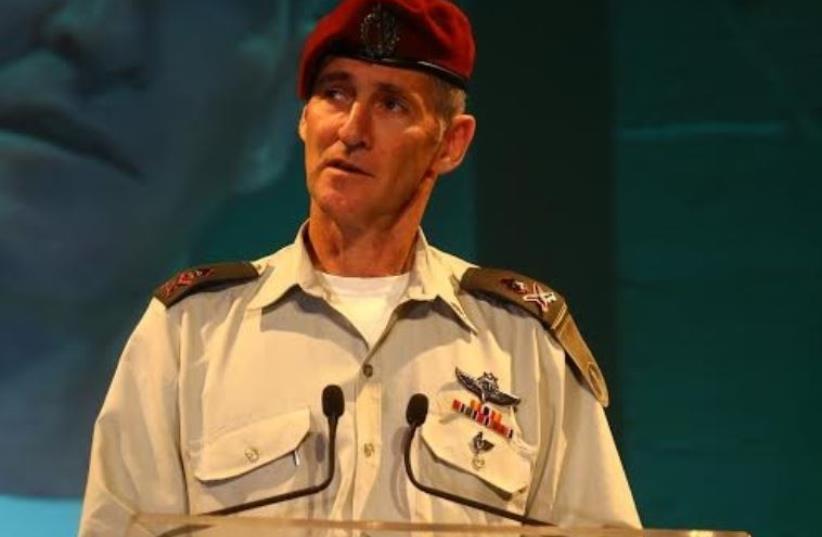 IDF Maj.-Gen. Yair Golan gives a speech at Kibbutz Tel Yitzhak in central Israel (photo credit: ASSAF SHILO / ISRAEL SUN)