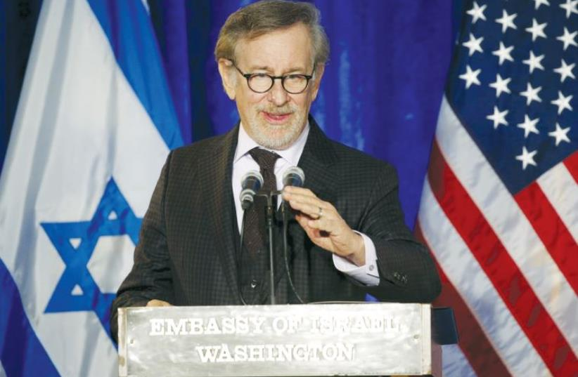 American film director and producer Steven Spielberg at the Righteous Among the Nations Award Ceremony in Washington, DC, in January (photo credit: REUTERS)