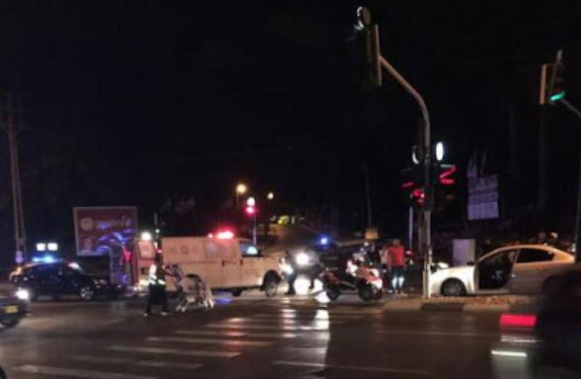 Scene of criminal shooting attack in Tel Aviv (photo credit: DUDI PEK)