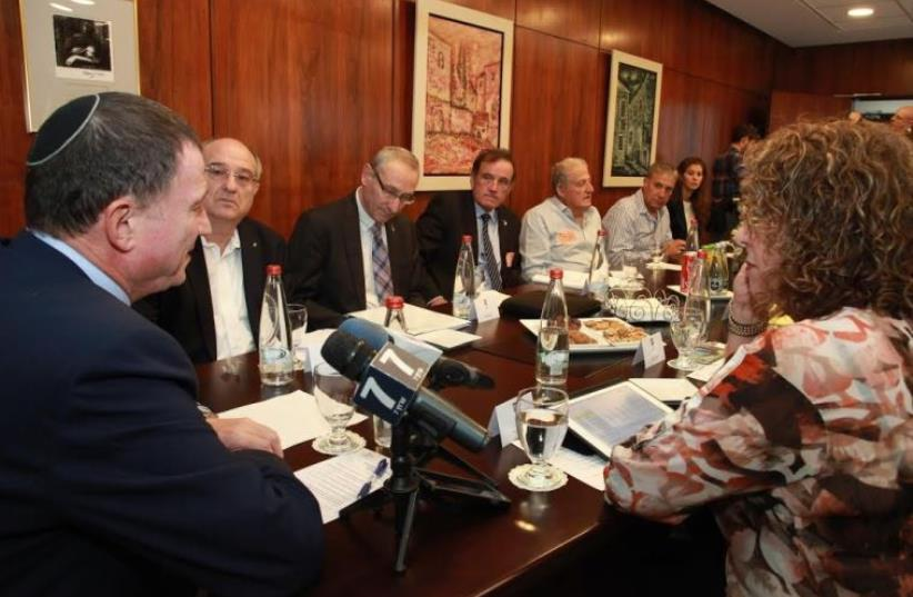University presidents meet with Knesset Speaker Yuli Edelstein in his office (photo credit: KNESSET)