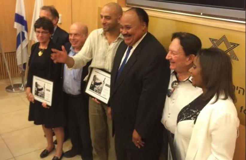 Martin Luther King Jr. III, Natan Sharansky, Idan Raichel, and others (photo credit: JEWISH AGENCY)