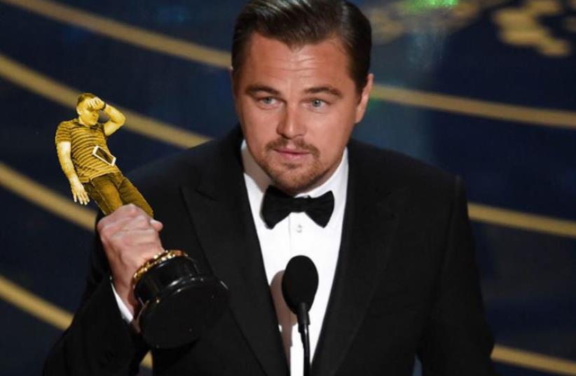 Leonardo Dicaprio finally wins his..Zeev? (photo credit: BORED PANDA)
