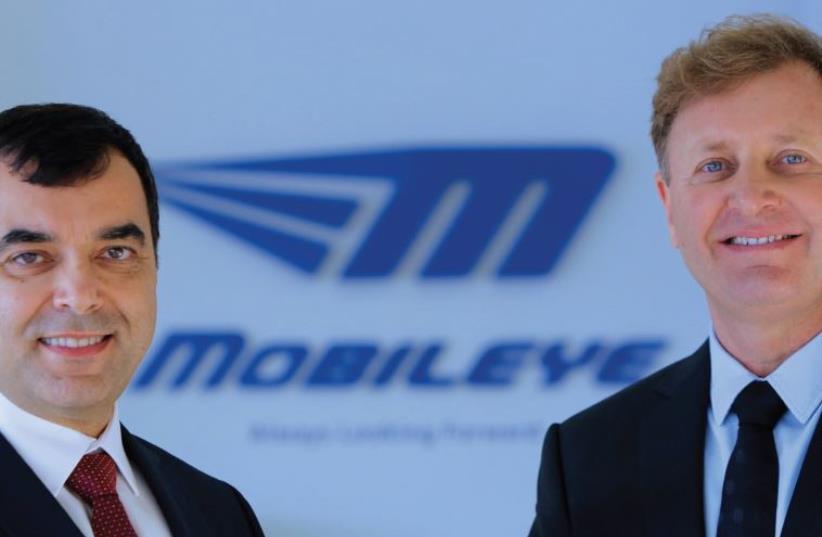 Mobileye founders Prof. Amnon Shashua (left) and Ziv Aviram (photo credit: Courtesy)