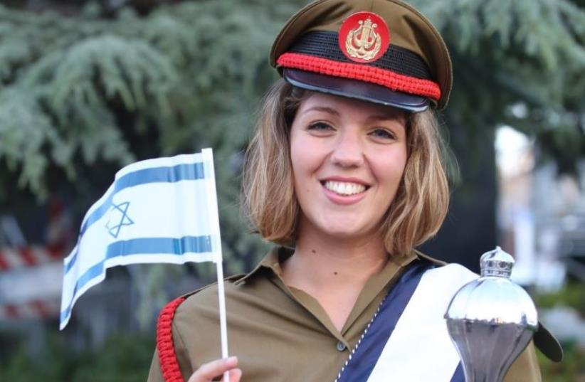 An IDF soldier prepares for the official Independence Day ceremonies on Mt. Herzl (photo credit: MARC ISRAEL SELLEM)