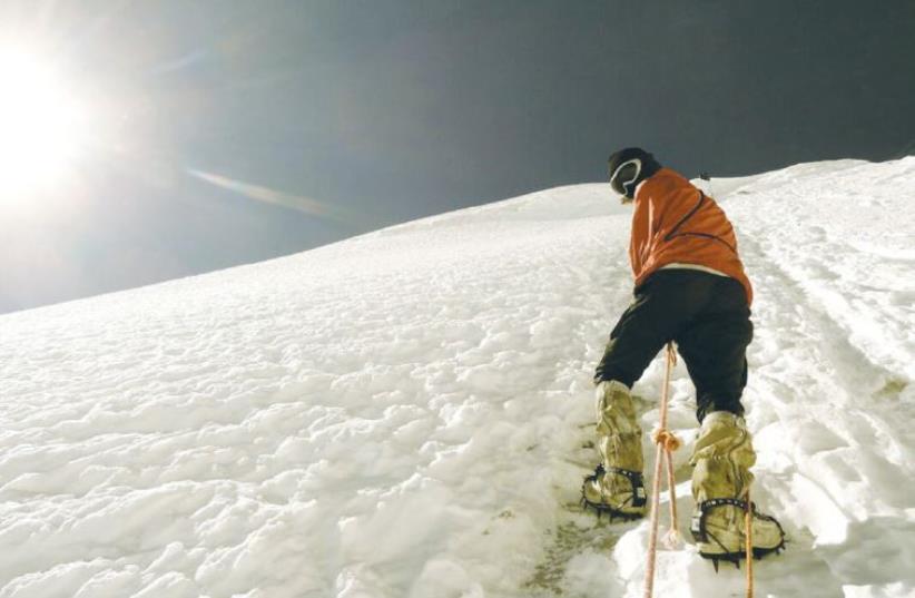 DR. RITESH GOEL walks on Mt. Everest (photo credit: Courtesy)