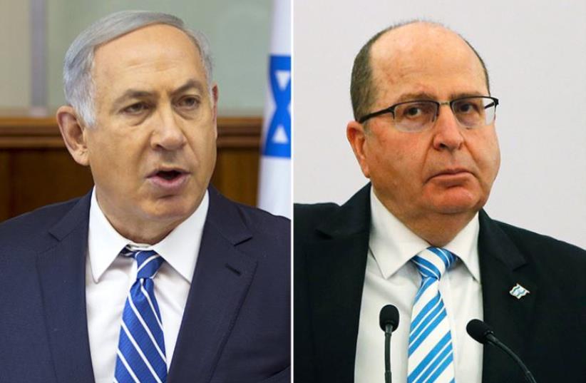 Netanyahu and Ya'alon (photo credit: REUTERS)