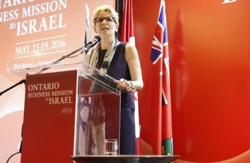 Ontario Premier Kathleen Wynne. (photo credit: SONIA CACOILO)