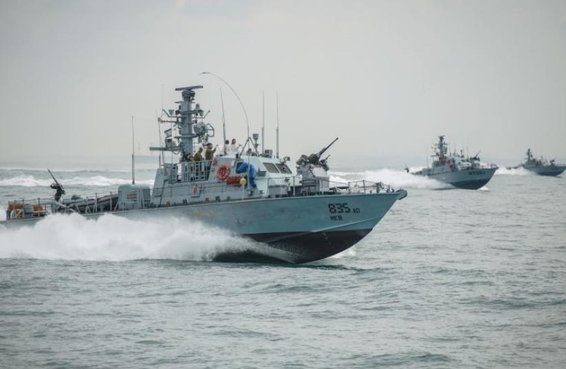 A group of Super Dvora Mk III-class patrol boats defend the coast of Israel along the border with the Gaza Strip (photo credit: IDF SPOKESMAN'S UNIT)