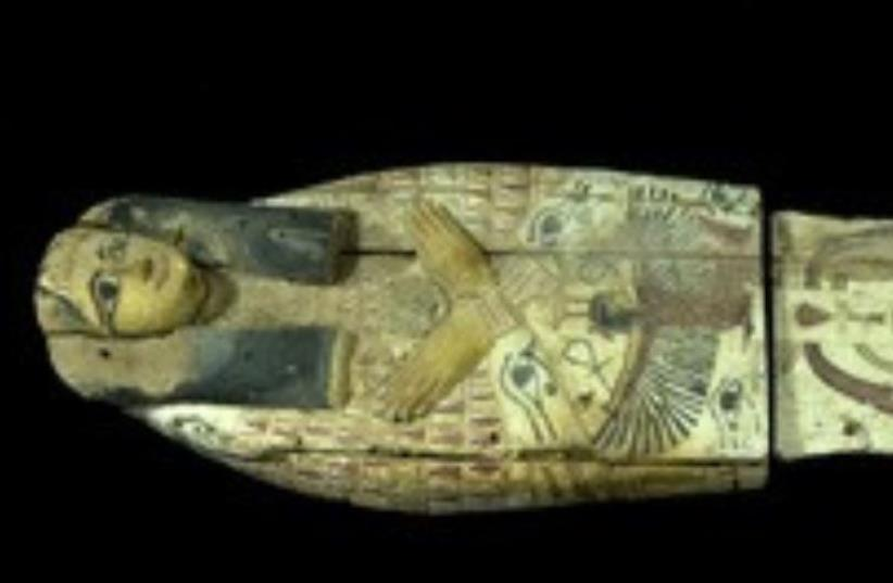 THIS COVER of an ancient sarcophagus was smuggled into Israel in 2012. (photo credit: ANTIQUITIES AUTHORITY)