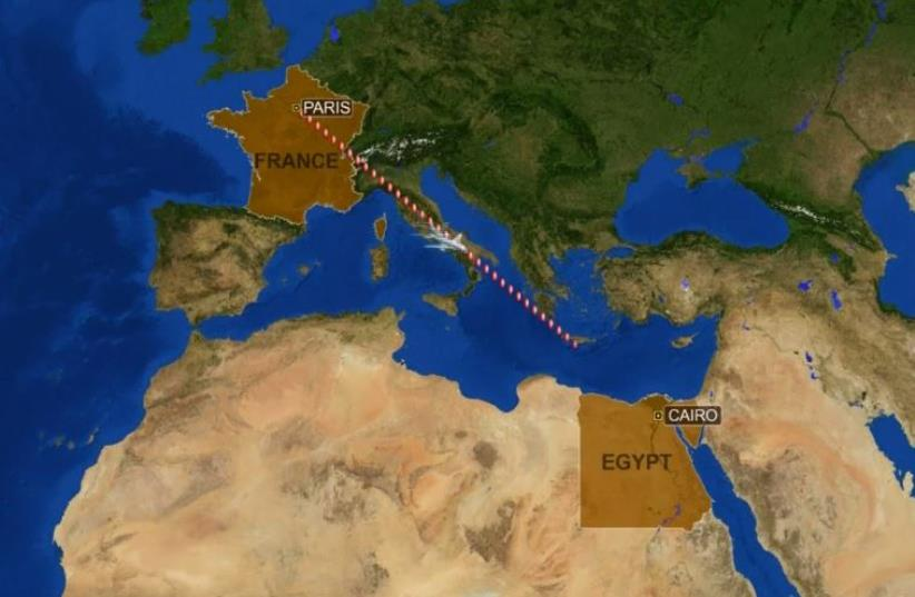 EgyptAir passenger jet with 66 people disappears from radar (photo credit: screenshot)