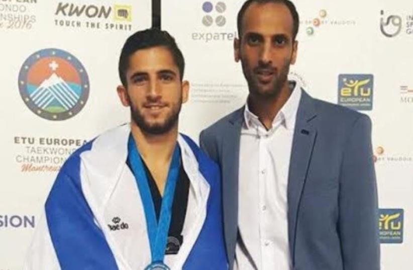 Israeli medalist Ron Atias (left) (photo credit: ISRAEL TAEKWONDO FEDERATION)