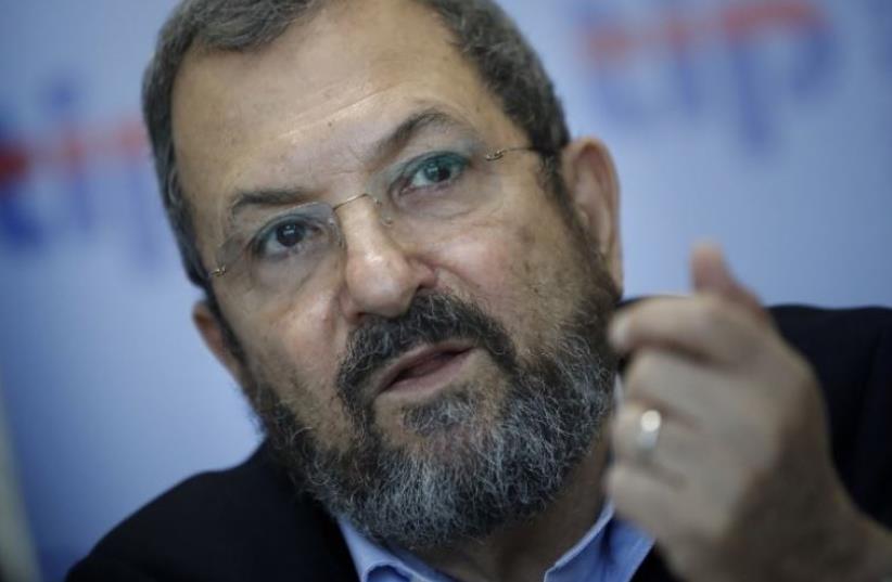 Former prime minister Ehud Barak (photo credit: AFP PHOTO)
