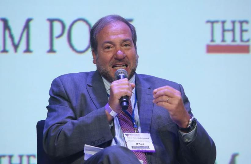 Rabbi Yechiel Eckstein at JPost Annual Conference BDS panel (photo credit: MARC ISRAEL SELLEM)