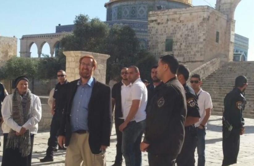 Yehuda Glick at Temple Mount. (photo credit: Courtesy)