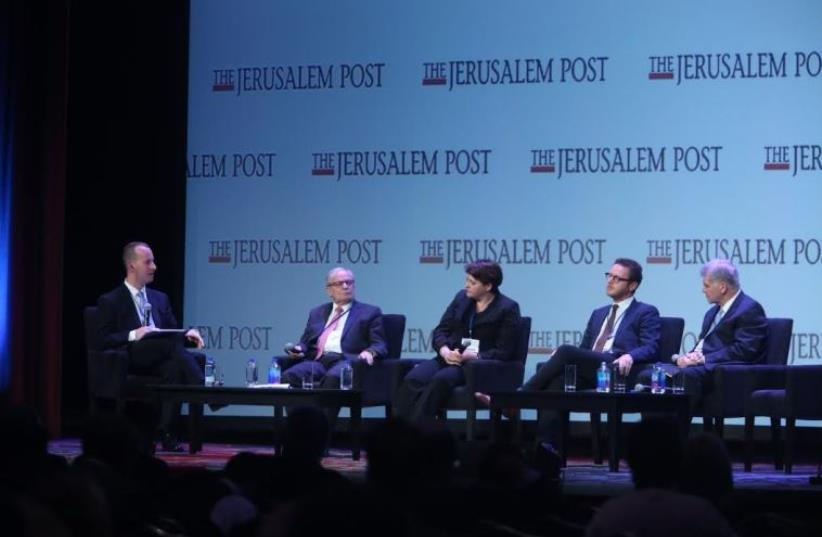 Jerusalem Post Conference panel on the Israeli economy. (photo credit: MARC ISRAEL SELLEM)