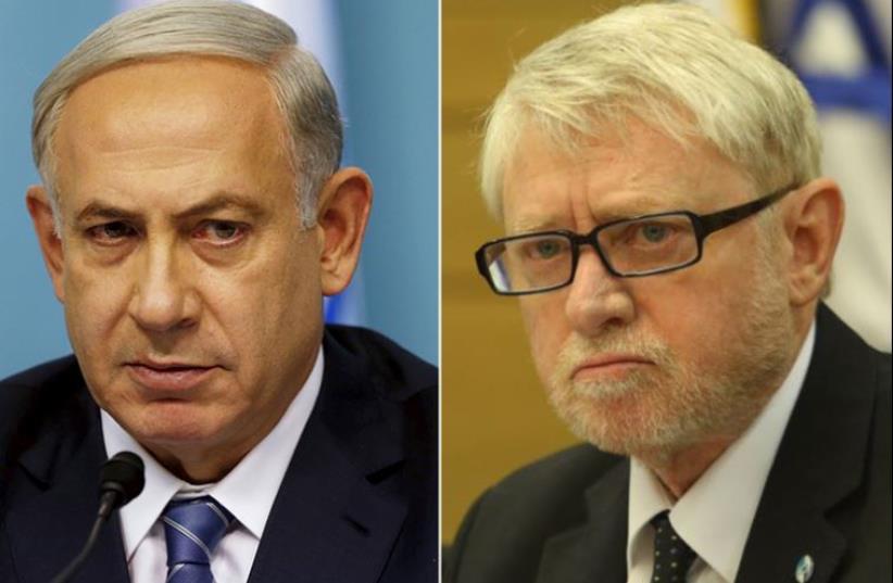 Netanyahu and Shapira (photo credit: REUTERS,MARC ISRAEL SELLEM)