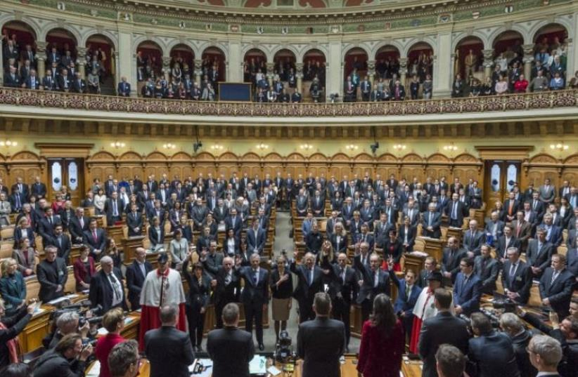 Swiss parliament in Bern (photo credit: AFP PHOTO)