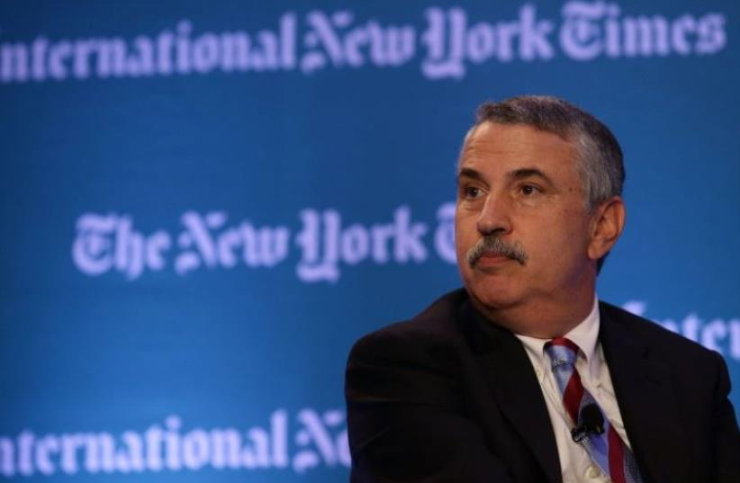 New York Times op-ed columnist Thomas Friedman (photo credit: AFP PHOTO)
